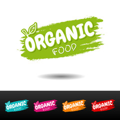 Wall Mural - Set of Organic food badges on white background.