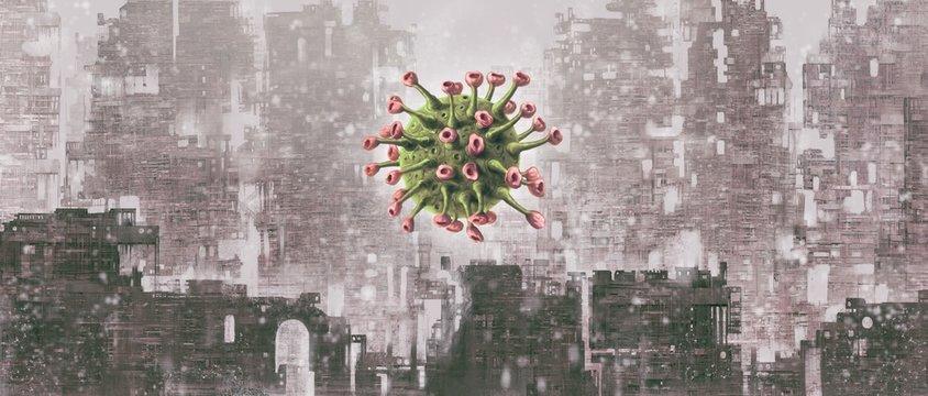 Virus with city