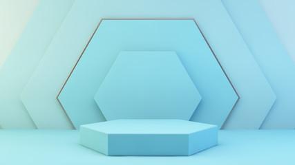 Papiers peints Pierre, Sable hexagon platform