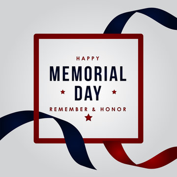 Happy Memorial Day Vector Design Illustration For Celebrate Moment