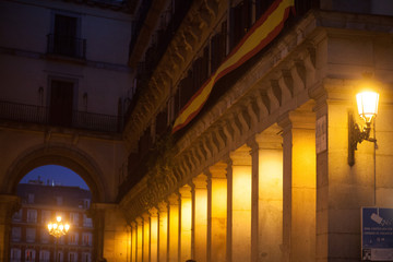 Low Angle View Of Illuminated Historic Building At Night