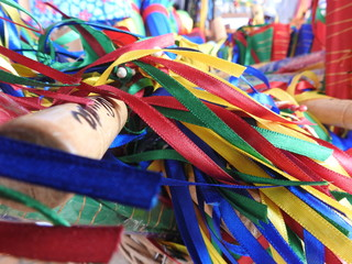 Foto op Canvas Paradijsvogel Close-up Of Colorful Ribbons