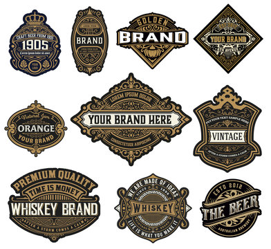 Set of Logos, Labels and banners. Vector Layered