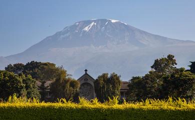Widok na górę Kilimandżaro z Kibosho w Moshi