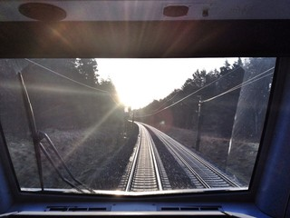 Railroad Track Viewed From Locomotive