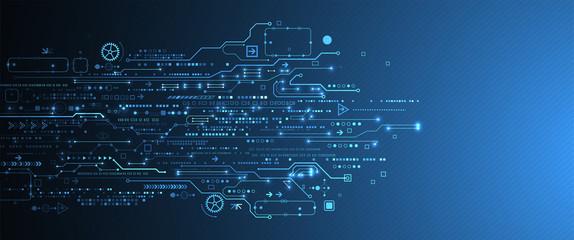 Obraz Abstract technology circuit board. Communication concept. - fototapety do salonu