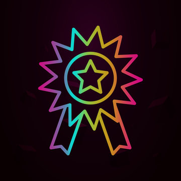 medal, star nolan icon Simple thin line, outline vector of Business icons for ui and ux, website or mobile application