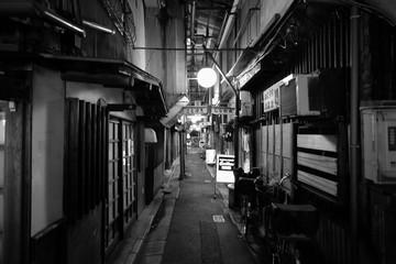 Keuken foto achterwand Smal steegje Narrow Alley At Night
