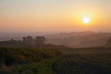 Sunrise at Lark Stoke near Chipping Campden, Cotswolds, England