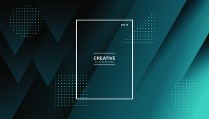 Minimal geometric background. Dynamic shapes composition. Eps10 vector. Wall mural