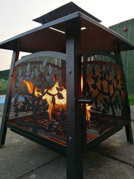 Close-up Of Fire Pit Outdoors