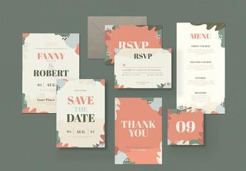 Floral Wedding Invitation Suite Layout