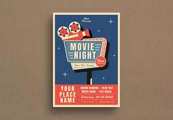 Movie Night Event Flyer Layout