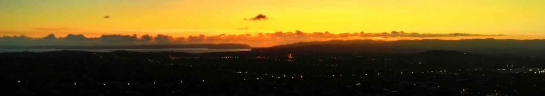 Foto auf AluDibond Gelb Panoramic Shot Of Landscape During Sunset