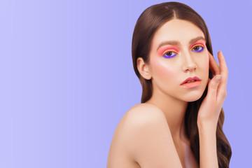 lilac and pink makeup