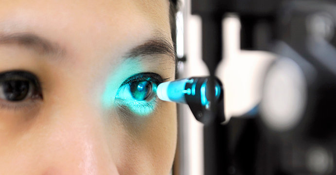 Tonometry is a left eye test that can detect changes in eye pressure