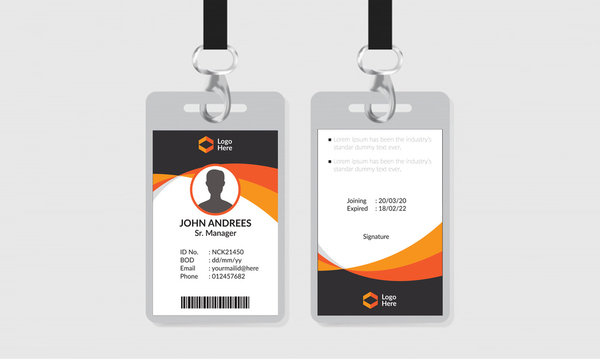 Office ID Card Template