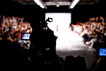 Wall Mural - Fashion Show, Catwalk Runway Event, Fashion Week themed photograph. Television broadcast of an event.