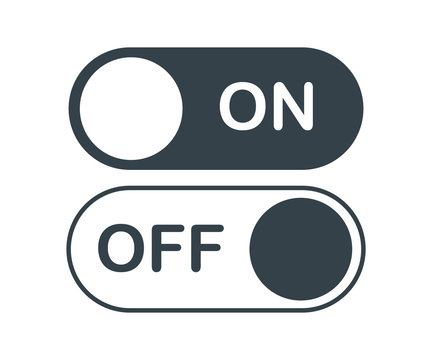 on off activate slider buttons vector