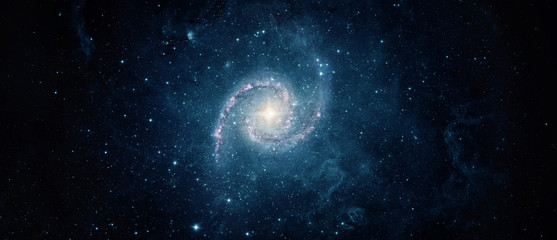 Wall Mural - Beautiful galaxy on night sky, star in the space. Lonely galaxy in outer space. Elements of this image furnished by NASA.