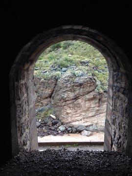 Archway Of Tunnel At Cajon Del Maipo
