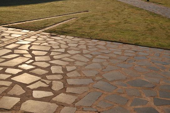 School, Opera Winfrey Girls School, Artivia, aggregates,Pavement, Artivia, sidewalk, texture, cast stone, stone, detail, colour, color, concrete, stepping stone, polished, home