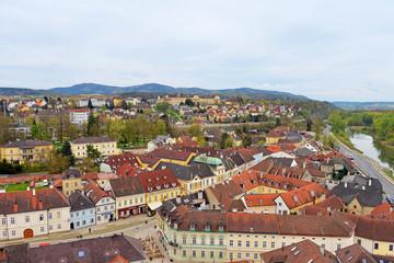 Panorama der Stadt Melk an der Donau