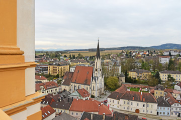 Blick auf Melk an der Donau