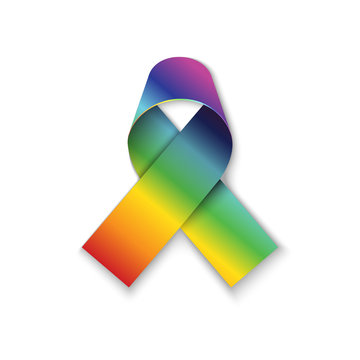 All cancers awarn ribbon on white