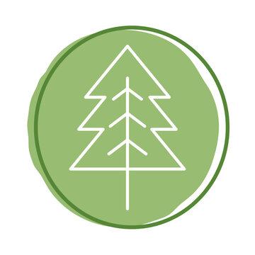 pine tree block style icon