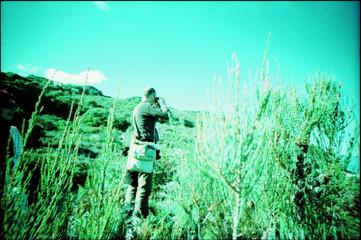 Foto auf Gartenposter Reef grun Full Length Of A Man Standing On Landscape