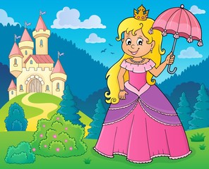 Poster Enfants Princess with umbrella theme image 2