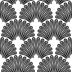 Art Deco Pattern. Vector black white background