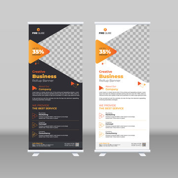 Creative Corporate & Business Roll-Up Banner Template Design