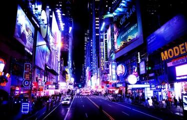 Illuminated City At Night - fototapety na wymiar