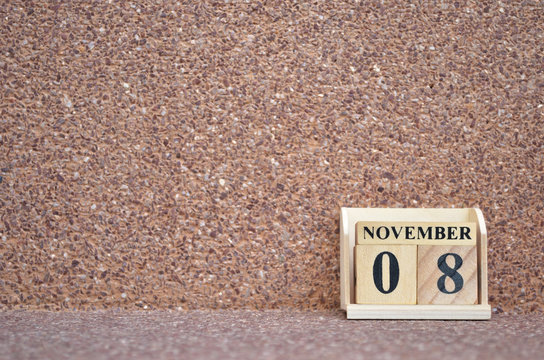 November 8, Empty gravel background.