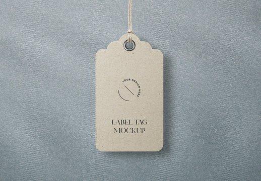 Craft Paper Clothes Label Tag Mockup