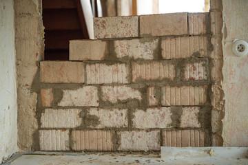 brick wall during a renovation