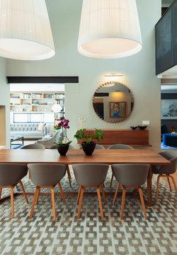 Modern home showcase interior dining room