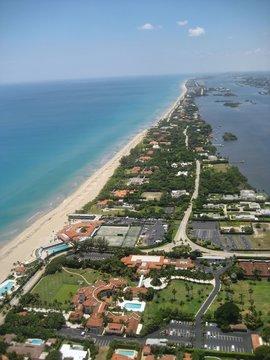 Aerial view of West Palm Beach, Florida