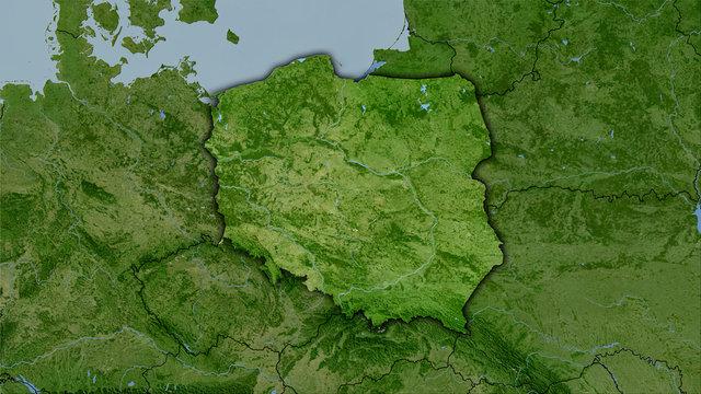 Poland, satellite B - dark glow