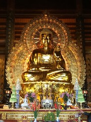 Buddha Statue Of Temple At Night