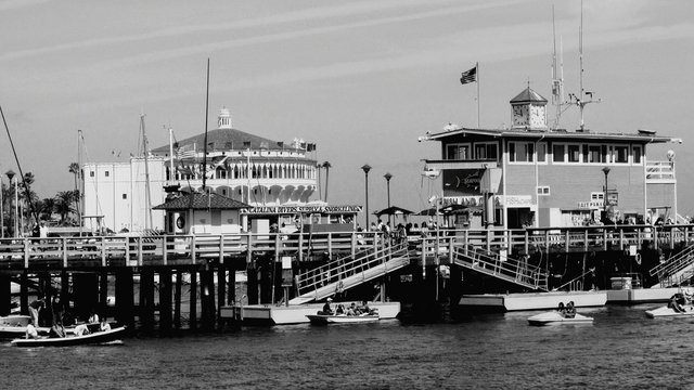 Avalon Harbor And Casino Building At Catalina Island