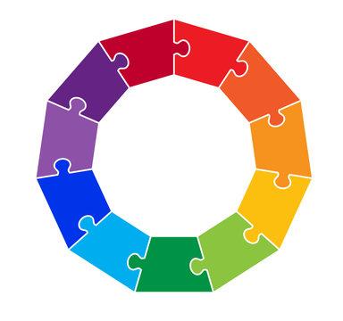 11 Part Hendecagon Puzzle Graphic