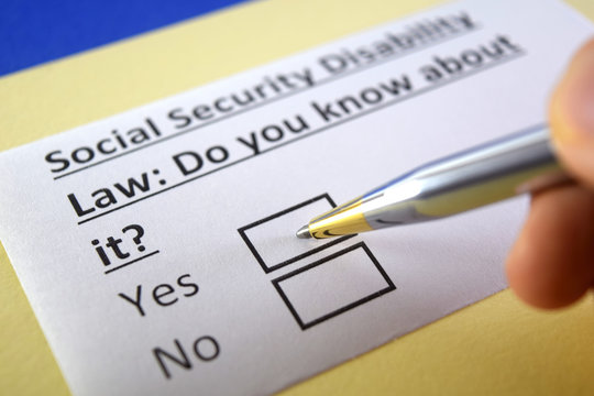 One person is answering question about social security disability law.