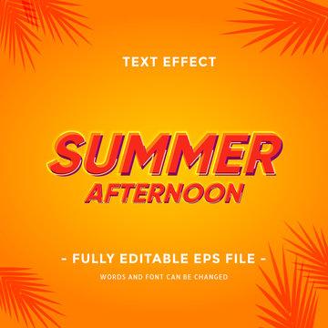 text effect summer season for your headline