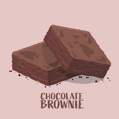 Isometric design of chocolate brownies