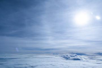 The beautiful  sky from the aeroplan