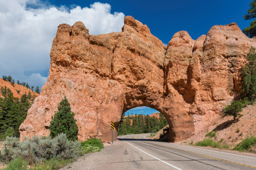 Arch on the road to Bryce Canyon National Park, Utah