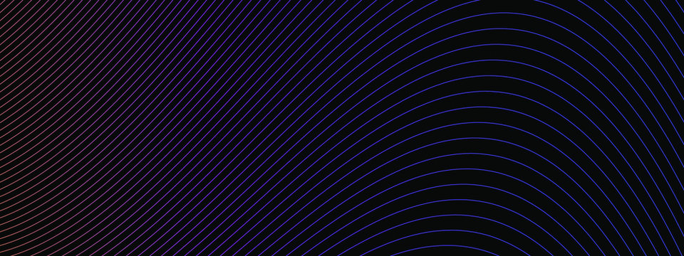 abstract neon wavy lines modern vector background